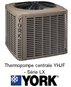 Thermopompe Centrale York YHJF