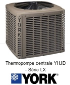 Thermopompe centrale York YHJD