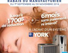 Réduisez vos coûts de chauffage et profitez d'économies avec les produits YORK!